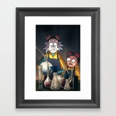 Breaking Morty Framed Art Print