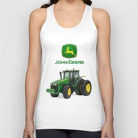 john green Tank Tops featuring John Deere Green Tractor by rumahcreative