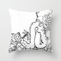 variola minor Throw Pillow