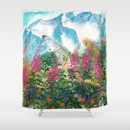 Alyeska Best of Both Shower Curtain