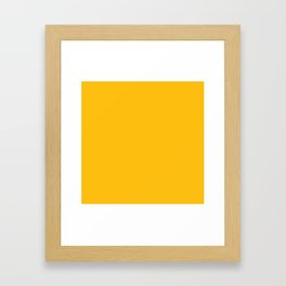 Amber Yellow Solid Color Framed Art Print
