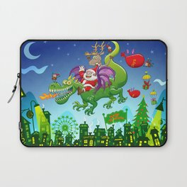 Santa changed his reindeer for a dragon Laptop Sleeve