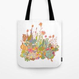 cactus garden Tote Bag