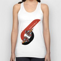 foo fighters Tank Tops featuring Raiden Fighters by Slippytee Clothing