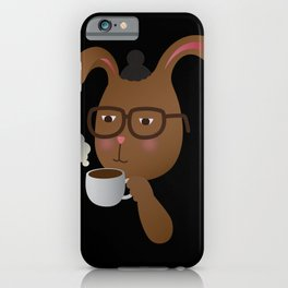 Man Bunny iPhone Case