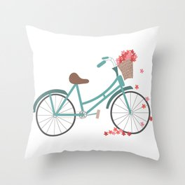 Bicycle Rides Throw Pillow