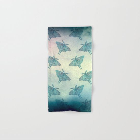 Moth Pattern Hand & Bath Towel