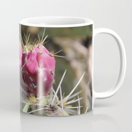 Red Flower Cactus Coffee Mug