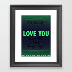 Say something 01  Framed Art Print