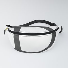 Letter D Initial Monogram Black and White Fanny Pack
