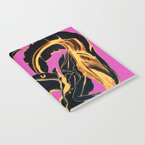 Golden Succulent on Fuchsia Notebook