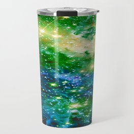 Fox Fur Nebula Teal Green Travel Mug