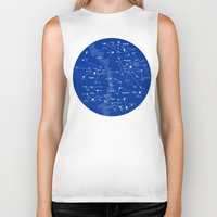 superheroes Biker Tanks featuring Superheroes Constellations by tuditees