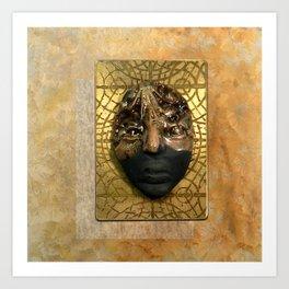 #7 Face & Metal Digital Collage Art Print
