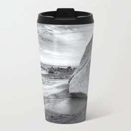 Kenai Beach bw Travel Mug