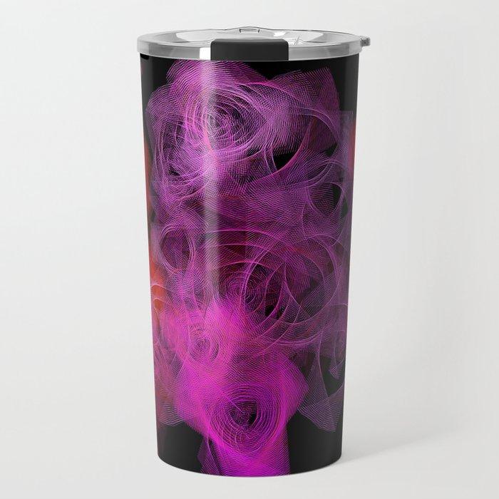 Spiro 8 Red and Magenta Magic Travel Mug