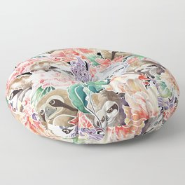 Because Sloths Watercolor Floor Pillow