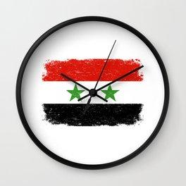 SYRIAN FLAG SYRIA Retro Vintage Gift For Syrian Wall Clock