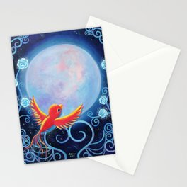 Singing to The Moon Stationery Cards