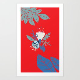 Red spring flower Art Print