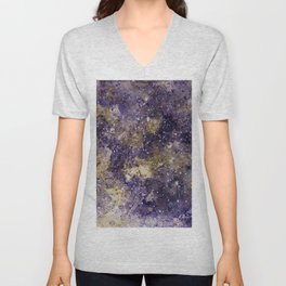 Writings in the Sky the Night Galaxy watercolor by CheyAnne Sexton Unisex V-Neck