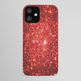 GalaXy : Red Glitter Sparkle iPhone Case