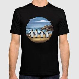 King Penguins walking on the Beach T-shirt