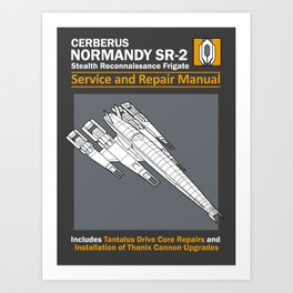 Normandy SR-2 Cerberus Service and Repair Manual Art Print