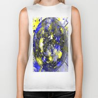 white marble Biker Tanks featuring marble by donphil