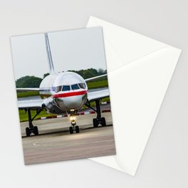American Airlines N172AJ Boeing 757 at Manchester England Stationery Cards
