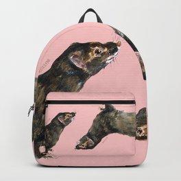 Save the european Mink !!! (FIEB) Realistic (c) 2017 Backpack