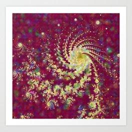 Burgundy Mandelbrot Fractal Swirl Art Print