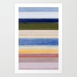 Colorbands Yellowstone Light Pink Art Print