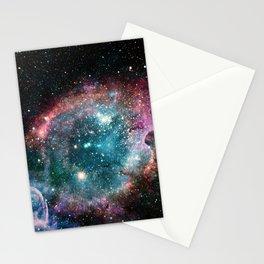 Galaxy and nebula Stationery Cards