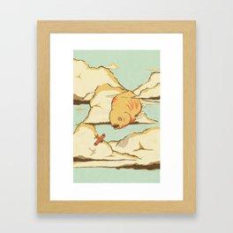 Sky Diving Framed Art Print