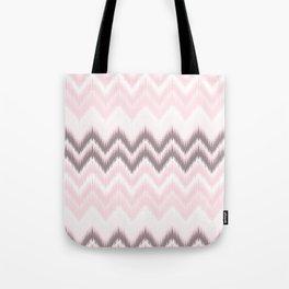 Girly blush pink pastel modern elegant ikat pattern Tote Bag