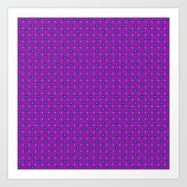 Uptown Ultraviolet Pattern Art Print