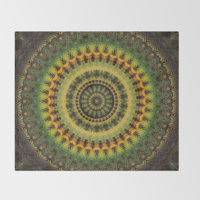 Mandala 237 Throw Blanket