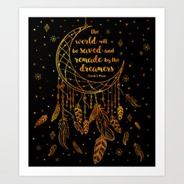 Saved and Remade - gold Art Print