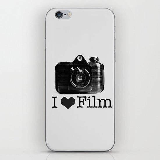 I ♥ Film (Grey/Black) iPhone & iPod Skin