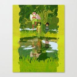 Tengu, Kappa, and Zashikiwarashi - Japanese Monsters Canvas Print