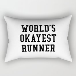 World's Okayest Runner Rectangular Pillow