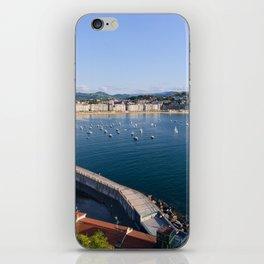 La Concha Bay. Donostia-San Sebastian, Spain. iPhone Skin