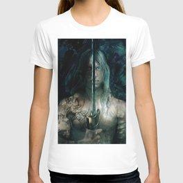 warrior inside T-shirt