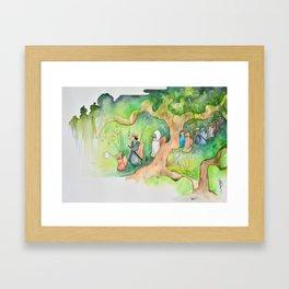 The fox's wedding Framed Art Print