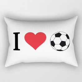 I Love Soccer Rectangular Pillow