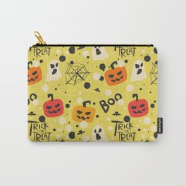 Happy halloween pumkins, webs, ghosts and boos pattern Carry-All Pouch