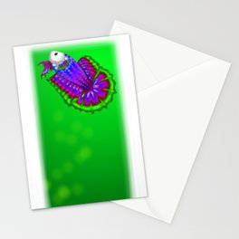 Green Betta Stationery Cards