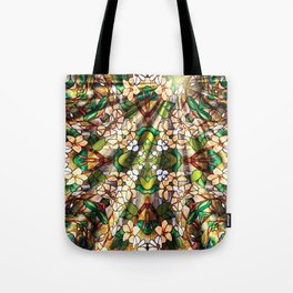 Flower Forest Abstract Tote Bag
