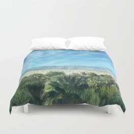 Palm Desert Mountains California Duvet Cover